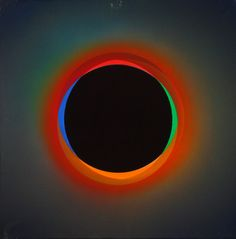Cold Sun (black circle).  Julio le Parc is one of the most important geometrical and kinetic artist in the early sixty's. He is co-founder of the G.R.A.V (visual art research group) in Paris and recipient of the Grand Prize for Painting at the 33rd Venice Biennale in 1966.  The socially conscious artist was expelled from France in May 1968, after participating in the Atelier Populaire and its protests against major institutions.
