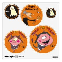 Funny Ghost,Devil Girls and Witch Wall Decals
