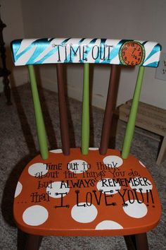 time out chair just as an idea. Going to make it brighter and cuter. Like the poem but calling it thinking chair