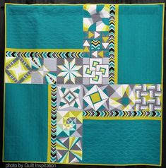 Quilt Inspiration: Modern Quilt Month 2018 What makes a quilt modern? According to The Modern Quilt Guild , the characteristics may include the use of bold colors and prints, high . Modern Quilting Designs, Modern Quilt Patterns, Quilt Block Patterns, Modern Quilt Blocks, Quilt Designs, Sampler Quilts, Scrappy Quilts, Patchwork Quilting, Quilting Templates