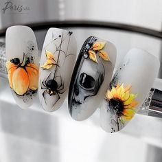 Cat Nail Art, Nail Art Set, Cat Nails, Animal Nail Designs, Nail Art Designs, Halloween Nail Designs, Halloween Nails, Tulip Nails, Secret Nails