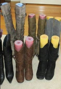 Brilliant idea, pool noodles in your boots