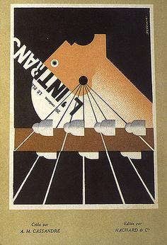 Poster for the Paris newspaper L'Intransigeant, designed by Cassandre, Art Nouveau Poster, Art Deco Posters, Vintage Posters, Vintage Art, Poster Prints, Typography Art, Art Logo, Bauhaus, Vintage Graphic Design