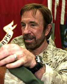 Oklahoman Chuck Norris (yes, THAT Chuck) (1940 - ) Famous martial arts star and action movie star; born in Ryan.