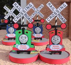 Thomas the Train Center Piece Thomas and by Karinascraftroom