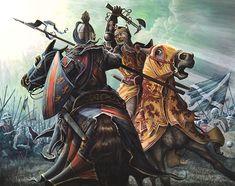 Robert the Bruce and Henry de Bohun - Battle of Bannockburn