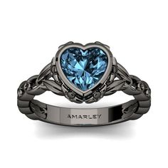 #Amarley Sterling Silver 1.50 CT. Heart Cut Aquamarine CZ Cubic Zirconia Vintage Ring. Priced at $69.95 - Subject to change depending on the supplier. Was $139.