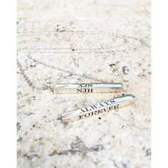 I love you always forever, near or far closer together :heart: the new UberBanner in our #flybyuberkate range. Engrave all four sides with words that mean the world to you. www.uberkate.com.au