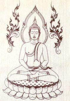 small Wall Hanging Meditation Batik Tapestry print,Buddha image Mediating in Lotus position (Asana)o Buddha Drawing, Buddha Painting, Buddha Art, Easy Drawings Sketches, Pencil Art Drawings, Buddha Tattoo Design, Shiva, Laser Art, Tibetan Art