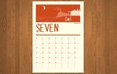 2014 printable calendar - northern & southern hemisphere sets