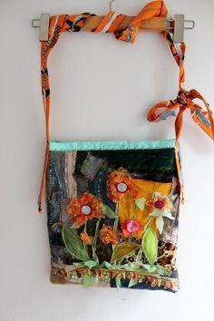 Denim bag Cross bag Boho Cross bag Handmade by Nazcolleccolors Get Paid To Shop, Handmade Fabric Bags, Hippie Bags, Inside Bag, Patchwork Bags, Denim Bag, Summer Bags, Etsy Handmade, Handcrafted Jewelry