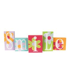 Take a look at this 'Smile' Block Set by Adams & Co. on #zulily today!
