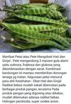 Khasiat Pete... Health Remedies, Home Remedies, Natural Remedies, Health Diet, Health Fitness, Herbs For Health, Survival Food, Herbal Medicine, Healthy Habits