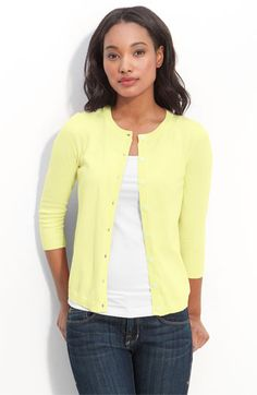 Nordstrom Mustard Cardigan; I would buy it in black too | Amy's ...
