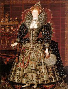 "The ""Hardwick Hall"" portrait of Elizabeth I of England."