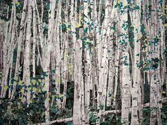 "fullbloom:  verdantdruid:  tobia:  Marcel Odenbach (German, born 1953)You Can't See the Forest for the Trees2003. Cut-and-pasted printed paper, cut-and-pasted colored paper, ink, and pencil on two pieces of paper, 85 3/4 x 117 3/4"" (217.8 x 299.1 cm). The Judith Rothschild Foundation Contemporary Drawings Collection Gift. © 2009 Marcel Odenbach / Artists Rights Society (ARS), New York / VG Bild-Kunst, Germany Close up:  Images & Information via katiephoto:"