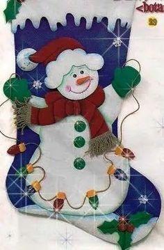 bota adorno de navidad en foami