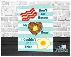 Nothing like a funny greeting card to brighten someones day! Send this hilarious breakfast food card that reads Dont go Bacon my Heart. I Couldnt if I Fried to your special someone and make them grin! Featuring two strips of bacon, a waffle heart, and a delicious looking fried egg, this humorous card is going to be a hit!  Looking for a last minute card? This printable card is perfect! You can print it in your own home or your local print shop and print as many as you need! Did you forget…