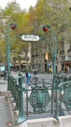St. Michel métro entrance, Paris༺♥༻