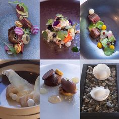 Les plats de Sang-Hoon Degeimbre,  devenu « la » référence de la cuisine créative de la région entre Liège, Namur et Mons (© Maurice Rougemont)