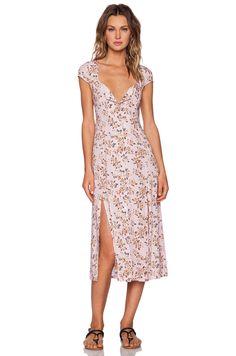 MINKPINK Pink Floral Midi Dress in Multi | REVOLVE