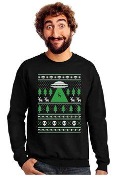 Great for UFO Alien Reindeer Abduction Ugly Christmas Sweater Sweatshirt reindeer christmas jumper. ($24.99) alltoenjoyshopping from top store