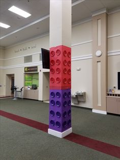Lego columns for Maker Fun Factory VBS