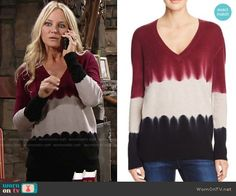 Sharon's tie dyed colorblock sweater on The Young and the Restless.  Outfit Details: https://wornontv.net/62743/ #TheYoungandtheRestless