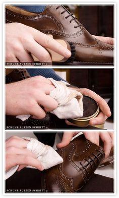 Schuhe richtig putzen (German)
