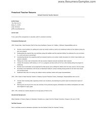 Preschool Teacher Resume Sample Page Sample Preschool Preschool Teachers  Resumes Aivukus Itamp39s Just For Me And
