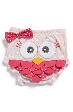 Baby Aspen 'Whoo's the Cutest?' Owl Bloomers (Baby Girls) available at #Nordstrom