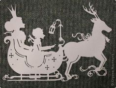 Картина панно рисунок Новый год Вырезание Снежная королева Бумага фото 1