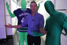 with the Green Men...