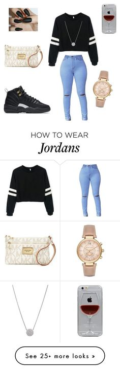 """Untitled <a class=""pintag searchlink"" data-query=""%231"" data-type=""hashtag"" href=""/search/?q=%231&rs=hashtag"" rel=""nofollow"" title=""#1 search Pinterest"">#1</a>"" by dashawnjames on Polyvore featuring NIKE, Michael Kors and Reyes"
