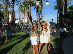 Aimee Song (Song of Style) and Dani Song at Coachella 2013