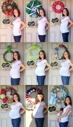 pregnancy progression collage pregnancy countdown pictures