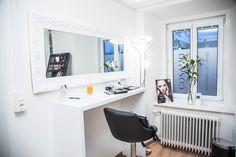 : Cosamo Beautyspa Make up Corner Salons, Corner, Makeup, How To Make, Studio, Beauty, Office Ideas, Maquillaje, Lounges
