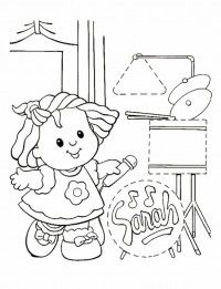 Little People Coloring Pages 18