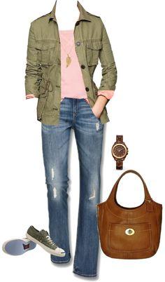 """Military jacket"" by luv2shopmom on Polyvore"