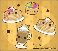 how to draw kawaii food with faces - Google Search