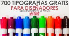 700 Tipografias profesionales gratis libres de derechos de autor 2016 - GraphicDesignGratis | Blog Diseño y Web | Recursos | Cursos