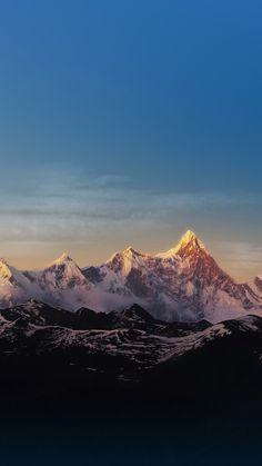 雪山と青空 iPhone壁紙 Wallpaper Backgrounds iPhone6/6S and Plus