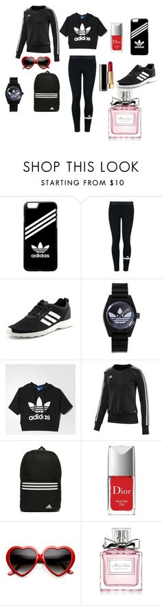 """Gym Clothes"" by chanalieberman on Polyvore featuring adidas, Chanel, Christian Dior and ZeroUV"