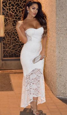 Modest White Sweetheart Prom Dresses, Unique Lace High Low Party Dresses, Simple Mermaid Evening Gow on Luulla Unique Prom Dresses, Lace Evening Dresses, Beautiful Prom Dresses, Homecoming Dresses, Sexy Dresses, Evening Gowns, Party Dresses, Wedding Dresses, Bride Dresses