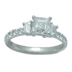 1.33 Cttw.  Diamond Engagement Ring https://www.goldinart.com/shop/diamond-engagement-rings-solitaires/1-33-cttw-diamond-engagement-ring #14KaratWhiteGold, #DiamondEngagementRing