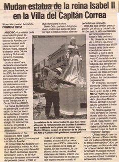 Estatua de la Libertad en Arecibo, Siendo mudada de lugar.