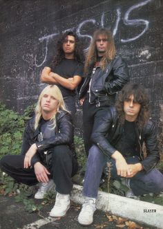 """*Notices the wall behind Slayer says Jesus* """"JESUS SAVES!"""" \m/\m/"""