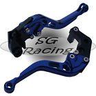 Short Blue CNC Alloy Adjustable GP Brake & Clutch Levers Suzuki GSXR1000 K9 2009
