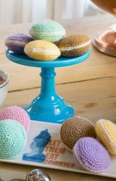 Adorable Macarons Free Crochet Pattern from Red Heart Yarns