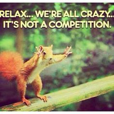 relax we're ALL crazy it's not a competition